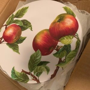 Set of 4 Plates Apple and Pears